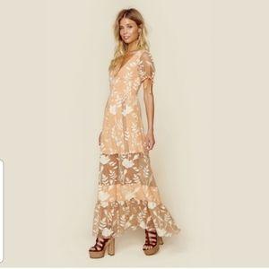 NEW For Love & Lemons Mia Maxi Dress